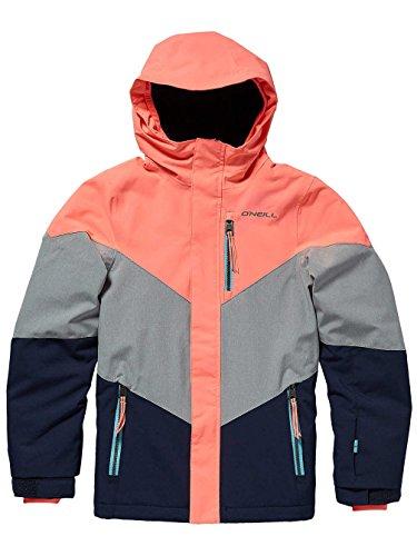 Mädchen Neon Coral (O'Neill Mädchen Coral Jacket Snow, neon Tangerine pink, 176)