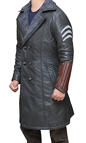 Suicide Squad Captain Boomerang Grey Synthetic Leather Coat - Suicide Squad Capitaine Boomerang Manteau en Cuir Synthétique Gris Gris