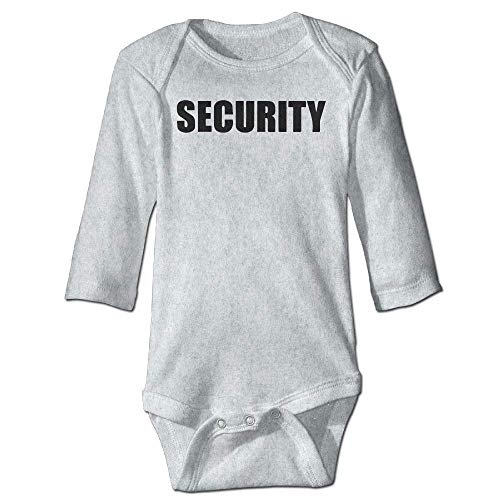 Unisex Newborn Bodysuits Security Boys Babysuit Long Sleeve Jumpsuit Sunsuit Outfit Ash