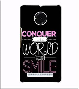 Fuson Designer Back Case Cover for YU Yuphoria :: YU Yuphoria YU5010 (Conquer The World With Smile)