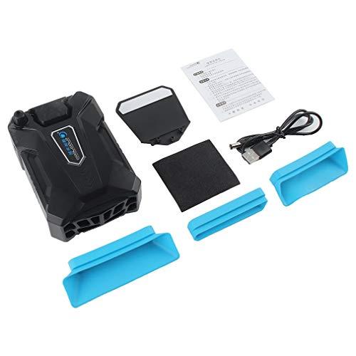 Refroidisseur à faible bruit Mini ventilateur d'extraction de l'air Radiateur Radiateur Contrôle intelligent de la température Refroidisseur pour ordinateur portable Échappement Refroidisseur CPU