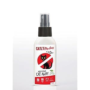 Katzen Fernhaltespray von CATLY STAY AWAY | 100% BIO Katzenabwehrspray aus Zitrus Bitterstoffe | Natürliche Katzenabwehr im Garten & Katzenschreck