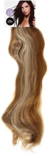 Love Hair Extensions Haarverlängerung Komplett-Set Silky Straight Thermofaser, 45,7cm, 10 Haarteile, Medium Ash Brown/Beach Blonde - Synthetische Haarverlängerungen