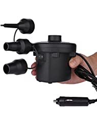 Cadrim Compressuer d'Air de Voiture Motos Vélo Balles Portable Gonfleur de Pneu Prise Allume-Cigare