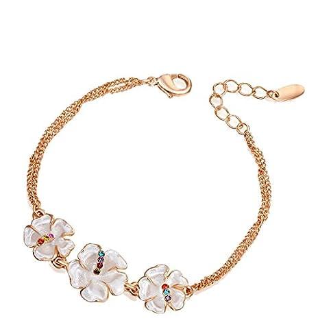 joyliveCY 2016 Fashion Women's Elegant Charm Bracelet Jewelry Plated Bling