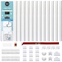 Quality Clever Kit de canalización en la Pared con Cubierta para Cables, Oculta y Organiza Cables y alambres Alrededor de su hogar, Oficina, TV