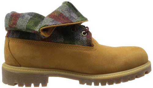 Timberland Af Roll Top, Stivali uomo giallo (Jaune (Wheat Waterbuck/Woolrich))