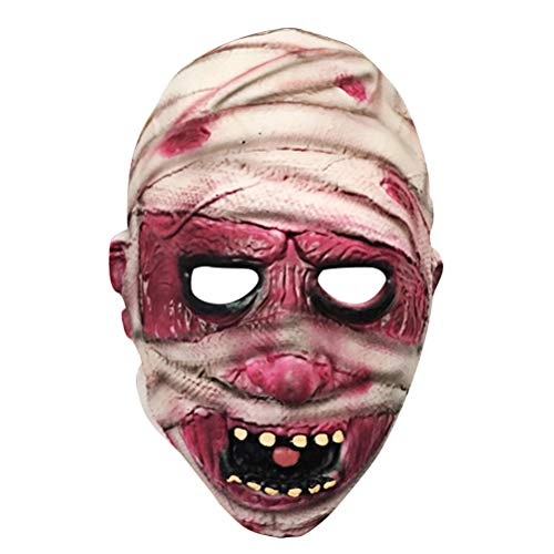 NUOBESTY Cosplay gruselige Halloween Kostüm Party Requisiten blutige Mumie Monster Maske
