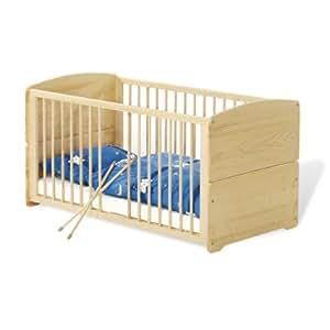 Pinolino - 111002 - Kinderbett Träumerle 140 x 70 cm - mit 3 Schlupfsprossen, aus vollmassiver Fichte, unbehandelt