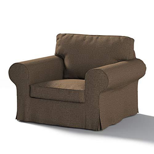 Dekoria Ektorp Sesselbezug Sofahusse passend für IKEA Modell Ektorp beige-braun