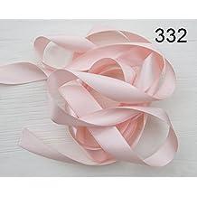 10 mm Breit 25 m Satinband Geschenk Dekoband Schleifenband BEIDSEITIG GLÄNZEND (323 Rosa)