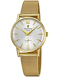 056d60bcba36 Festina Reloj Análogo clásico para Mujer de Cuarzo con Correa en Acero  Inoxidable F20259 1