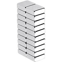 Anpro Magnete 20 Stück Extrem Stark, Neodym Magnete für Kühlschrank, Glas Magnetboards, Magnettafeln (10 x 10 x 4 mm), MEHRWEG