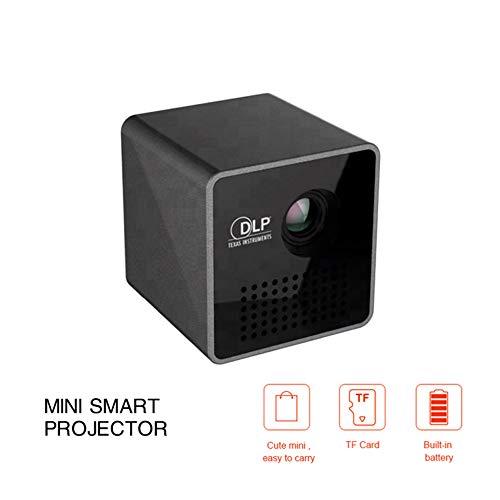 DZSF Miniprojektor P1 Plus tragbarer, leicht zu tragender WiFi DLP-Projektor HD-Projektionswiedergabe mit TF-Karte, Unterstützt 1080P Dlp Tv Lampe
