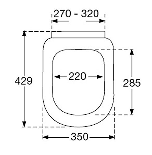 Pressalit 684000-D77999 3 WC-Sitz mit Absenkautomatik