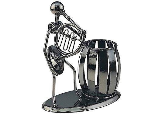 Música iron man art acero bolígrafo recipiente soporte lápiz Copa Pot secretario escritorio música decoración juguete regalo, color Hord