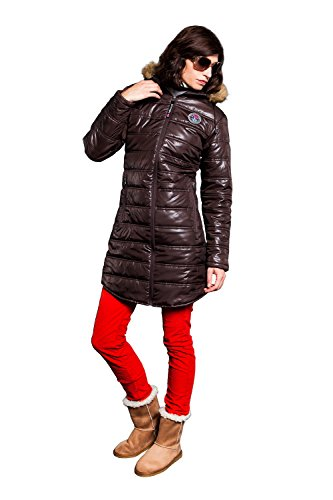 Nebulus-Wintermantel-Chamonix-Soft-shell-para-mujer-color-marrn-talla-XL