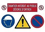 UTTSCHEID Chantier Interdit au Public défense d'entrer - Autocollant Vinyl Waterproof - L.297 x H.420 mm