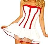 Sexy Krankenschwester-Kostüm weiß/rot, Größe:XS-L