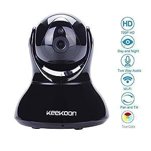 KK002 1.0MP HD IP-Kamera 5xZoom Autofocus 720P Videoüberwachung zugriff über Inthernet/Wlan auf PC Mac(Safari nur)/iPhone/Android - Tag/Nacht Pan/Tilt TF SD Kartenschlitz(Max.32GB), 2-Wege-Audio, Amlarm, Bewegungsmelder - Unterstützt Kein Windowsphone, kein NAS/Surveillance Station
