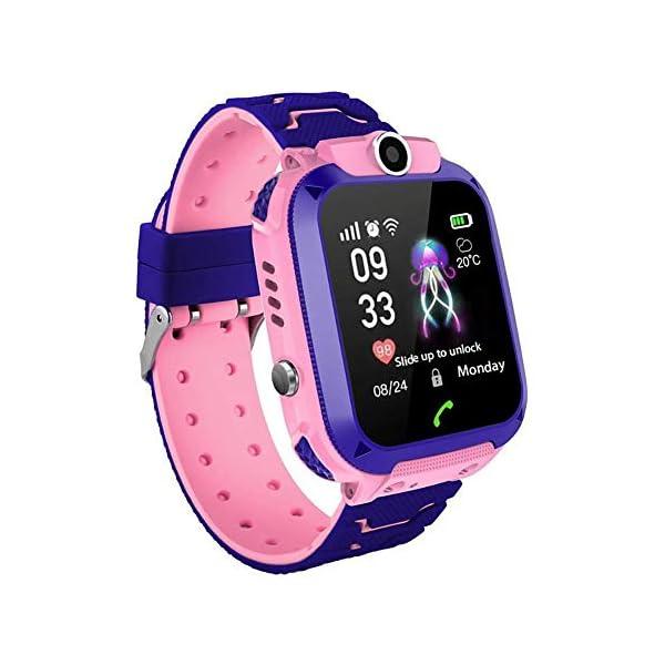 Localizador GPS Niños, Reloj GPS Niños Localizador Con SOS Anti-Lost Alarm Para Tarjeta Pantalla Táctil Smartwatch Para… 1