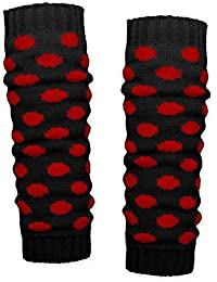 SoulCats® 1 Paar Grobstrick Bein Stulpen mit Punkten in 4 verschiedenen Farbkombinationen