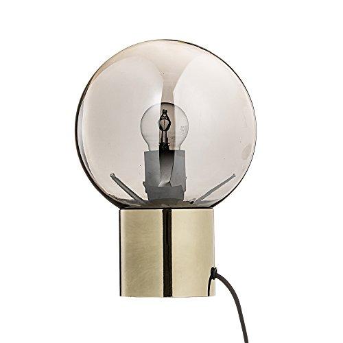 Bloomingville Lampe de bureau, Finition dorée/Verre argenté/Cordelette noire
