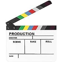 """Neewer® 10""""* 12""""/25cm x30cm acrílico colorido Director de TV de la película corte acción escena borrado en seco Slateboard Clapper claqueta"""