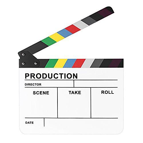 Neewer® 25,4x 30,5cm/25cm x 30cm, acryl bunt Director 's Film Film TV Cut Action Szene Dry Erase slateboard Klöppel 23.006