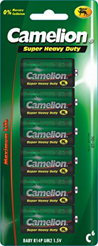 Camelion - Lot de 6 piles - 1.5V C