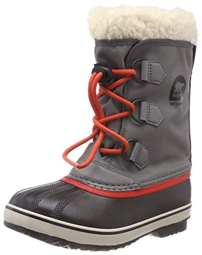 Sorel Kinder Yoot Pac Nylon Stiefel, grau (quarry)/rot -