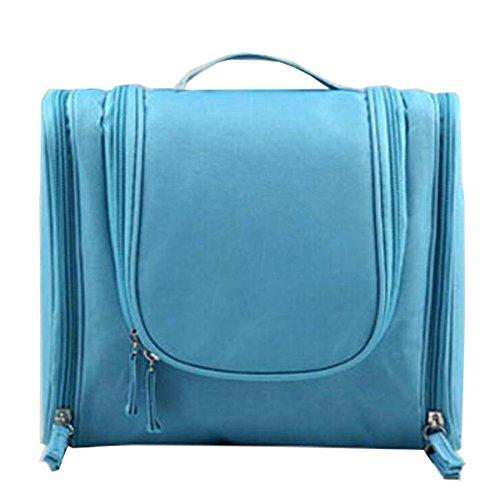 Jia Qing Borsa Cosmetica Multifunzionale Portatile Da Viaggio Borsa Cosmetica Universale Di Grande Capacità Blue