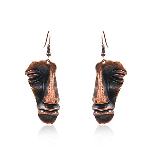 Ostern Ohrringe Gesicht Kontur Ohrringe lustige Persönlichkeit abstrakte Form übertrieben Spaß Schmuck Geschenk