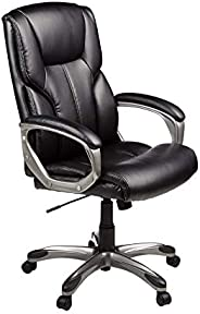 Mahmayi High-Back Executive Swivel Ergonomic Office Computer Desk Chair With Padded Arms and Smooth Rolling Ca