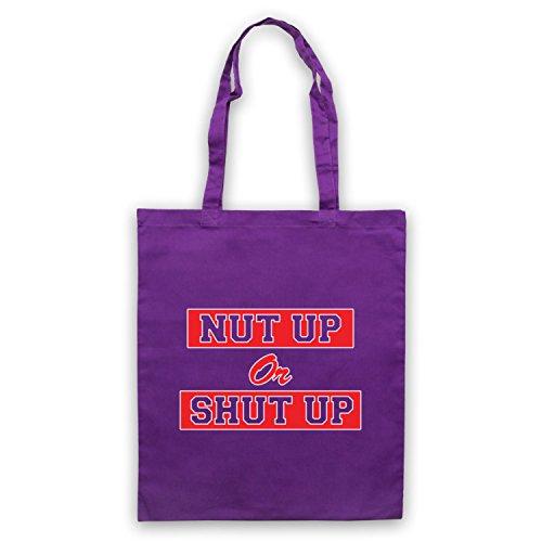 Inspiriert durch Zombieland Nut Up Or Shut Up Inoffiziell Umhangetaschen Violett