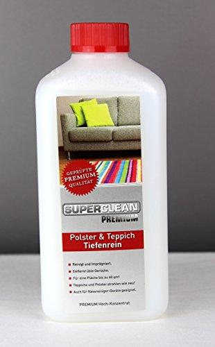 Spezial Flüssig Hochkonzentrat Polster & Teppich Tiefenrein für alle arten von Polstern, Teppichböden, Läufern, Autositzen und Autositzbezügen