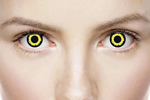 Damen Herren Erwachsene WOLF Dämon Zombie Vampir Kosmetikum Halloween Horror unheimlich Karneval Fest Schutzbrille Kostüm Verkleidung ()