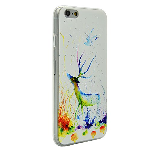 Coque iPhone 6s Plus, Coque iPhone 6 Plus Silicone TPU Gel Souple Relief Motif Etui Housse de Protection Sunroyal® Case Cover Ultra Mince Premium Confort Rigide Anti-choc Bumper - Océan Baleine Relief-18