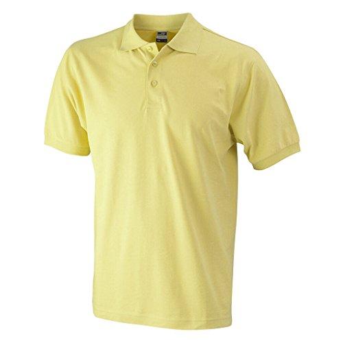 JAMES & NICHOLSON Hochwertiges Polohemd mit Armbündchen light-yellow