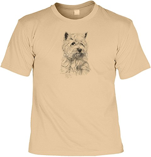 Hunde-Shirt/ T-Shirt mit Dog-Aufdruck: Westie - schönes Geschenk für Hundefreunde Sand