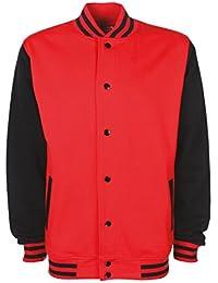 FDM College Jacket FV001 XS,Fire Red/Black