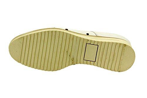 Scarpe donna comfort pelle Piesanto 8631 classiche basse soletta estraibile comfort larghezza speciale Blanco