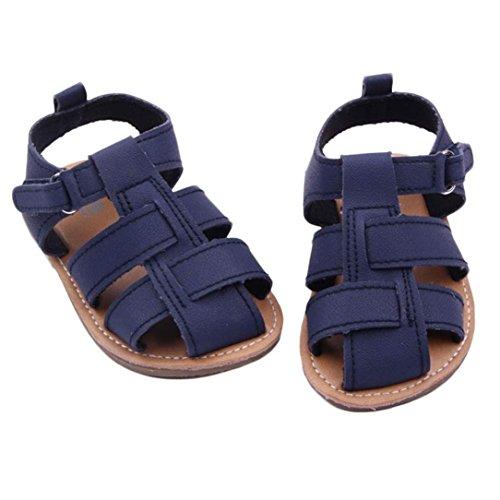 Culater Baby Jungen Weich Gummi Sandalen Beiläufig Krippe Schuhe (11, Marine ) Herren Geboren Schuhe