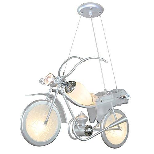 HEYUN& camera da letto lampadario chandelier sala bar creative personalità dei bambini decorato con abbigliamento lampadario ragazzo moto per bambini lampadario ( Color : Three-color light )