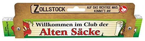 (Zollstock für Männer Alte Säcke 40 Spezialzollstock Willkommen im Club der Alten Säcke zum 40. Geburtstag 30090)
