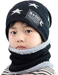 PROKTH   Sombreros de Invierno para niños - Bufanda - Sombrero de Punto cálido para Patinar