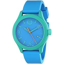 ESQ by Movado Women's 42mm Blue Silicone Band & Case Quartz Analog Watch 07301465