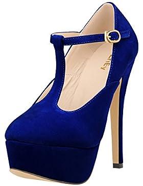 MEI&S Donna punta tonda bocca poco profonda Prom Stiletto Tacchi Alti Wedding Corte pompe scarpe