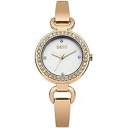 Oasis Damen Quarzuhr mit Rose Gold Zifferblatt Analog-Anzeige und Rose Gold Armband b1480