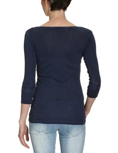 Blaumax - T-shirt - Col V - Manches 3/4 Femme Bleu (8200 Ink Blue)